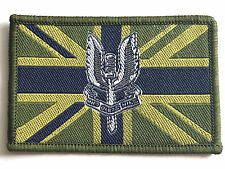 SAS UNION JACK PATCH sew on British military embroidered flag badge army olive