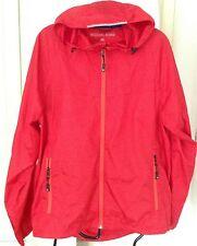 Rojo para Hombre Diseñador Michael Kors Lluvia con Capucha Abrigo. Talla M