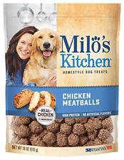 New listing Milo's Kitchen Chicken Meatballs Dog Treats, 18-Ounce