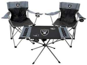 Las Vegas Raiders 3-Piece Tailgate Kit - 2 Chairs - 1 Table