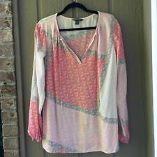 Women's Tommy Bahama Blouse Medium Peasant blouse Red and pink