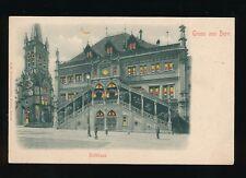 Switzerland Gruss aus BERN Rathaus HTL HOLD TO LIGHT PPC c1902 u/b PPC