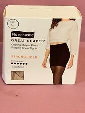 No Nonsense Great Shapes Tights Lightest Strong Hold Size C  NEW  J