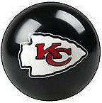 Kansas City Chiefs Shift Knob NFL Billiard Pool Ball Threaded Gear Shifter