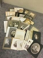 Lot of 45 + Antique Photos on Cards-Including Photo of A Painting