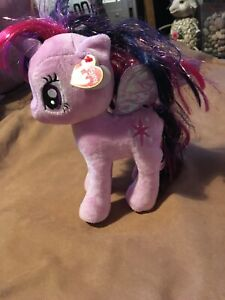 TY Twilight Sparkle My  Little Pony Purple Soft Plush Toy New With Tags