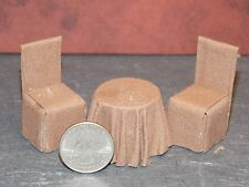 Dollhouse Miniature Table Chairs 1:24 half inch scale 1/2 F33 Dollys Gallery