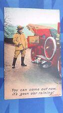 Vintage Bamforth Comic Postcard 1900s ARGYLL Veteran Brass Car Breakdown Theme