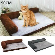 New Warm Comfy Calming Kitten Bed Soft Memory-Foam Pet Bed Dog Cat Sofa