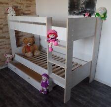 Hochbett Kinderbett Stockbett Etagenbett Schublade Rollrost  weiß rosa Komplett