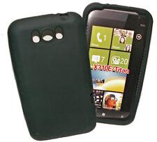 SILICONE TPU Cover Per Cellulare Custodia Guscio Protezione in nero per HTC Titan