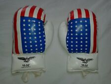 10 oz Boxing Kids Gloves Made in Pakistan Red White Blue American Flag