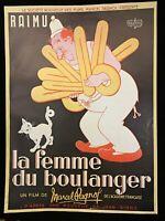 🌓 [AFFICHE] DUBOUT La Femme du boulanger PAGNOL RAIMU Jean GIONO 70x50cm