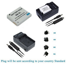 Battery  +Charger For Canon NB-6L NB-6LH PowerShot S90 S95 IXUS 105