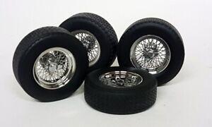 KK 1/18 Scale - 4x Ferrari Wheels & Tyres Spoked Rims model car Modify etc