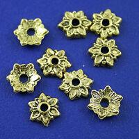 150pcs dark gold-tone flower spacer beads h2281