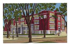 New Hampshire postcard Manchester, High School of Practical Arts linen