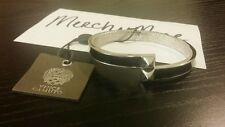 VINCE CAMUTO Silver/Blk Asymmetrical Pyramid Hinge Bangle Bracelet NWT MSRP:$38
