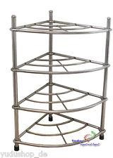 métal Armoire d'angle étagère de salle bain avec 4 compartiment chrome