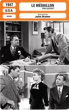FICHE CINEMA : LE MEDAILLON - Day,Mitchum,Brahm 1947 The Locket