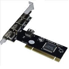 Parallel USB 2.0 5 Port (4+1) 480Mbps PCI Express Card Adapter Converter für PC