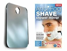 "Magic Shave No Fog Shower Mirror with Free ""Magic Hook"" - Uses No Adhesives!"