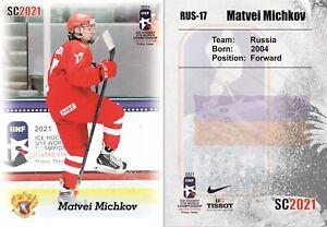 2021 SC WJC U18 Matvei Michkov team Russia white RC Rookie