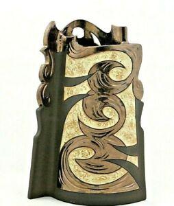 "Ceramic Vase 11"", Unique Vase, Handmade flat design Vase, Art pottery Vase, Gift"