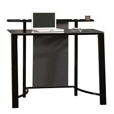 Sauder Furniture Mirage Desk with Tempered Glass Top, Black | SF-411969