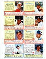 1962 Post Cereal Baseball REPRINT Uncut Sheet # 6205