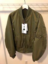 BNWT Mens Visvim Thorson Bomber Jacket, Olive, Size 2