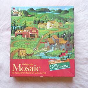 Charles Wysocki Americana Puzzle BURMA ROAD Mosaic Effect 1982 Jigsaw Puzzle