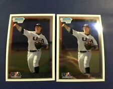 2010 Bowman Chrome USA # USA-20 TONY WOLTERS ROOKIE RC Lot 2 Rockies Indians