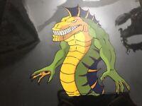 Rare Street Sharks Original Production Animation Cel REPTEEL Villain Nice Body!