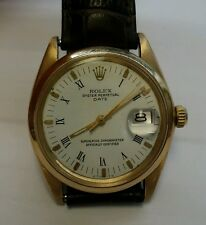 Rolex Date Vintage 34mm 14k Yellow Gold 1500