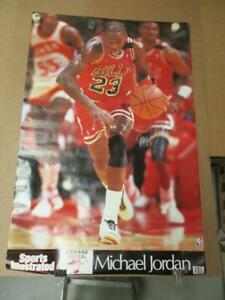 Original 1988 89 Michael Jordan Sports Illustrated Bulls Poster  NOS!