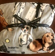 Vera Bradley Plush Throw Blanket BEST IN SHOW DOGS Limited Edition RARE New NWT