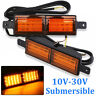 2x Submersible Amber 30 LED Front Indicator Park Lights TJM Bullbar ARB Bar 12V