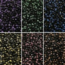 600pcs 6 colors Set Czech Fire-Polished Faceted Glass Beads Round 3 mm (3SFP307)
