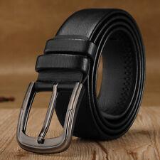 Men's Minimalist Casual Genuine Leather Belt Adjustable Strap Loop Accessories