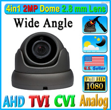 HD 2MP 1080P 4in1 Security Camera Wide 2.8mm Lens Dome CCTV Outdoor TVI AHD CVI