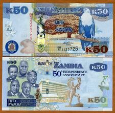 Zambia, 50 Kwacha, 2014, P-New, UNC > Commemorative, 50 years Independence