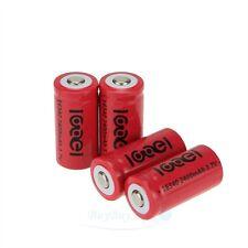 4 x 2400Mah 3.7V 16340  CR123A 123A CR123 Li-ion Rechargeable Battery Cell USA