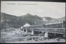 ITALY~ITALIA~1900's VENTIMIGLIA ~ Pente della Ferrovia sul Reia~TRAIN Tressle