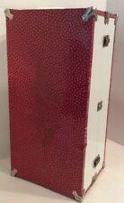 Vintage Red Star Metal Doll Case/ Trunk Wardrobe Suitcase Metal Storage Case