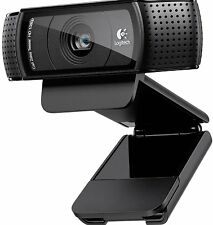 Logitech c920 pro micro webcam hd 1080p appel vidéo skype usb pc rrp £ 89.99
