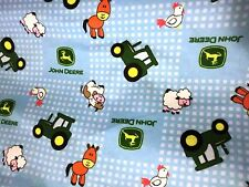 JOHN DEERE FABRIC tractor fabric BABY BARN toss FLANNEL CP46795 BTY NEW 2016