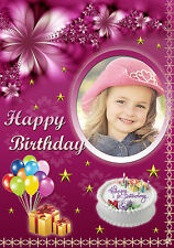 PERSONALIZED Photo HAPPY BIRTHDAY GREETING CARD Picture Gift BD5