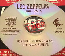 Led Zeppelin Live Vol. 3 Aust. CD Rare Jimmy Page Robert Plant Whole Lotta Love