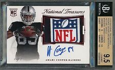 2015 Amari Cooper National Treasures Rookie Material RED NFL SHIELD AUTO 1/1 BGS